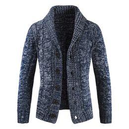 pull cardigan gris en cachemire Promotion Nouvelle marque homme pull casual hommes cardigan épais pull en cachemire survêtement hiver gris bleu