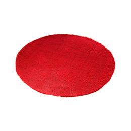 2020 alfombras de baño chenilla Antideslizante Absorbente Duradero Chenille Alfombrilla Cocina Baño Redondo 60x60CM Alfombra antideslizante Alfombra Alfombra Felpudo Poliéster alfombras de baño chenilla baratos