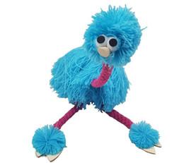 bambole di mano Sconti Marionette Doll Muppets Animal muppet burattini a mano giocattoli lana corda struzzo Birl Marionette bambola per bambini