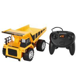 Canada Apprentissage préscolaire de modèle de fil de commande de fil de modèle de voiture d'ingénierie de 4 roues pour des camions d'enfants jouet jaune pour des garçons supplier learning preschool Offre