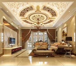 Personnalisé 3D plafond papier peint motif marbre pour salon 3d plafond papiers peints d'amélioration de l'habitat plafond 3d papier peint en brique ? partir de fabricateur
