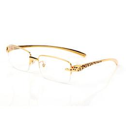 goldene brücke sonnenbrille Rabatt Designer Brillen Rahmen Leopard-Sonnenbrille doppelte Nasenbrücke golden Tee Flocken umrandeten Brille 2019 Designer Luxus-Platz Rahmen Reize