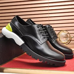 Lightweight Derby Shoes Mens Shoes Fashion Male Wedding Formal Flats Lacing  Party Breathable Business Plus Size Shoes Groom Wedding Shoe