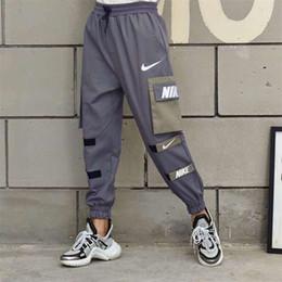 Mens Corredores Calças Casual Homens de Fitness Sportswear Treino Bottoms Skinny Sweatpants Calças Ginásio Preto Calças de Jogger Faixa 98955 de