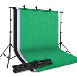 Sistema di supporto per supporto in background 2MX2M con sfondo fotografico in tessuto non tessuto 1.6MX3M (bianco, nero, verde) per Portrait Studio da colori delle stelle fornitori