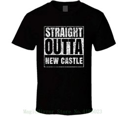 ffa162f583d Straight Outta New Castle Distressed Look City Grunge Cool T Shirt Hot New  2018 Summer Fashion T Shirts