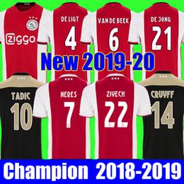 9cff7d65423 Chinese Top thailand DE JONG TADIC 2018 2019 2020 AJAX FC soccer jerseyS  HUNTELAAR ZIYECH CRUYFF
