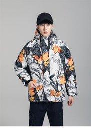 2019 кленовая куртка Красочные мужские куртки конструктора Maple Leaf Printed Толстые осень зима пальто Престижное подростковая Теплая куртка с капюшоном дешево кленовая куртка
