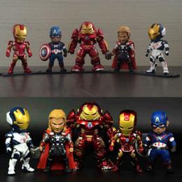 Полный набор No Light Age of Ultron Marvel Мстители Фигурка Железный Человек Тор Халкбастер Америка Капитан Модель Игрушка в Подарочную коллекцию от