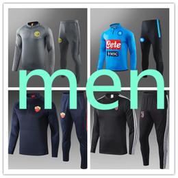 Sportswear italia on-line-mens designer tracksuits jogging training  soccer tracksuit football Naples Italy Rome AC Milan Inte