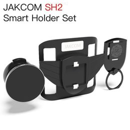 solar mobile cell phone chargers Promo Codes - JAKCOM SH2 Smart Holder Set Hot Sale in Cell Phone Mounts Holders as mobile solar charger rfid personal tracking handyhalter