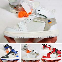 Niños azul marino zapatos niñas online-Nike air jordan 1 retro Niños 11 11s Space Jam Bred Concord Gym Zapatos de baloncesto rojos Niños Boy Girls White Pink Midnight Navy Sneakers Niños pequeños Regalo de cumpleaños