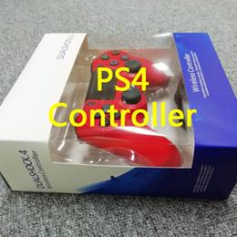 2020 controladores de jogos sem fio Controlador sem fio Bluetooth para PS4 Vibration Joystick Gamepad jogo Controladores para Sony PlayStation Dualshock 4 com caixa de varejo controladores de jogos sem fio barato