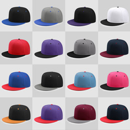 8f74cf3d3da Factory Custom Adult Baseball cap Flat Brim Candy color Hip hop caps  Patchwork Snapback Children Embroidery LOGO letter Boys Solid Sun Hats