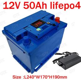 2019 batteries de golf GTK au lithium 12V 50AH lifepo4 batterie BMS 4S 12.8V batterie Cycle profond 26650 pour caravane de golf RV caravane + 5A chargeur promotion batteries de golf