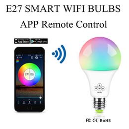 E27 Смарт WIFI Светодиодная лампа RGB 4.5W Dimmable Светодиодные лампы Лампочки Работает с Alexa Google Home16 миллионов цветов APP дистанционного управления от