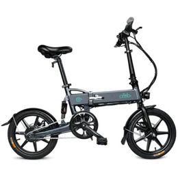 2019 складной велосипед электрический FIIDO D2 Складной электрический велосипед с мопедом E-bike с 16-дюймовыми надувными резиновыми шинами для различных площадок дешево складной велосипед электрический