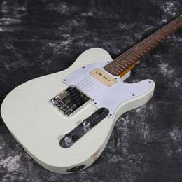 2019 cuerdas de guitarra hechas a mano 2019 Starshine New Product 100% Handmade Relic TL 21 trastes Guitarra eléctrica P90 Pastillas Cuerdas Cuerpo cuerdas de guitarra hechas a mano baratos