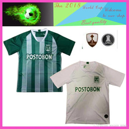 nacional jersey Promo Codes - 2019 2020 Top quality Atletico Nacional Medellin H.BARCOS Soccer Jersey Colombia Club Medellin Home Football Sports Uniform Football Shirt