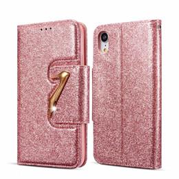 2019 iphone 6s più i casi di bling Custodia a portafoglio in pelle con tacchi a spillo alta per Iphone XS MAX XR X 10 8 7 Plus 6 6S Luxury Diamond Bling Glitter copertura a vibrazione scintillante TPU magnetica