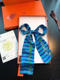 Argentina Diseñador de la marca de lujo BOLSA bufanda Diadema de seda de las mujeres de grado superior de seda Puede Para Bolsos tamaño 8 * 120 cm regalo cheap top scarves for women Suministro