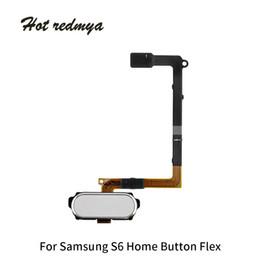 Teclado táctil dorado online-Para el botón de inicio del Samsung Galaxy S6 Edge Plus G928 Cable flexible Menú Teclado Teclado Botón Reemplazo del sensor táctil Negro Blanco Oro