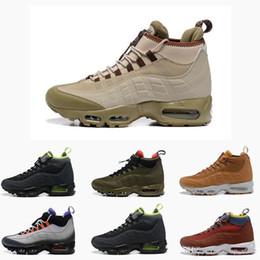 7b90d936b23 Nuevo 95 High Top para hombre Zapatos para correr 95s Sneakerboot deportes  lluvia maxes snow invierno bota Hombres Zapatillas Diseñador Botas Tamaño  7-12 ...
