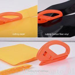 Envoltórios do corpo do auto on-line-Fibra de carbono Ferramenta de Corte De Filme com Lâmina de Metal Snitty Faca de Segurança Adesivos de Carro de vinil Faca de Corte Ferramenta de Envoltório Do Corpo Do Carro Auto