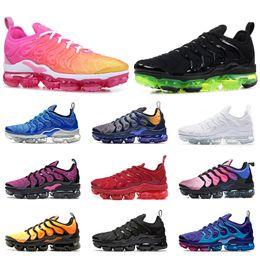 Compre Nike Air Max TN Plus Ultra Airmax Plus Tn Das Mulheres Dos Homens Tênis De Corrida Ultra Triplo Preto Branco Prata Bala Núcleo Oreo Ouro Mens