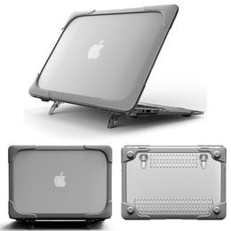 apple pro 13 Sconti Novo Caso de Plastica Rígido À Prova de Choque com Suporte Dobrável Para Macbook Air 11 13 Para Mac Book 12 polegada + teclado cobrir para A