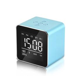 Портативная память bluetooth онлайн-Светодиодный будильник FM-радио Портативный Bluetooth-динамик подключите кассетный дисплей памяти будильник совместимый смартфон аудио зеркало для макияжа
