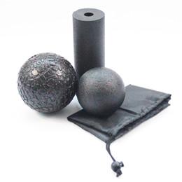 Set di rulli in schiuma online-3 pz / set Yoga Block Roller Fitness Rullo di Schiuma Epp Massaggio Palla Lacrosse Palla Pilates Body Esercizi Gym Trigger Punti Formazione C19041501