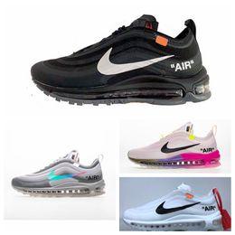 nike air max 97 Off white Flyknit Utility vapormax 2019 zapatos de mujeres del cielo FlyLine Skateboarding zapatos escotados Blanco Negro Aire libre