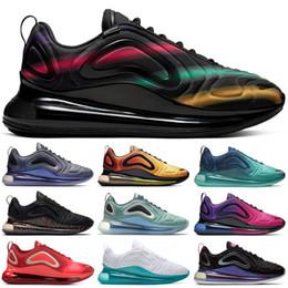 sapatos esportivos de cor preta Desconto Nova cor chegada Big Logos Preto 720OG das mulheres dos homens Running Shoes Floresta Sea Reminiscência chaussures futuros formadores Sports Sapatilhas