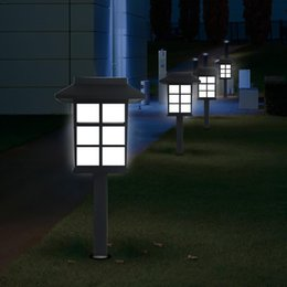21db0e6e24664 Waterproof Solar LED Landscape Light Solar Pillar Wall Lamp Outdoor Solar  Lights For Courtyard Garden Park Lamp
