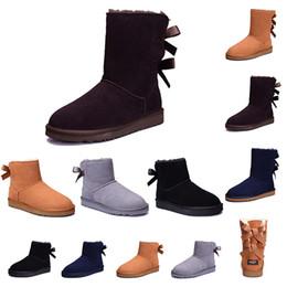 2019 botas de neve roxas para mulheres ugg Clássico 2019 Inverno Wgg botas Triplo preto Cinza rosa roxo tênis de couro Mulheres Austrália Clássico ajoelhar meia Longo botas de neve desconto botas de neve roxas para mulheres