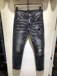 italiano direto Desconto Irmãos de marca de moda italiana moda Pierre reta perna jeans D homens quadrática ciclismo jeans jeans rasgado estiramento calças plissadas