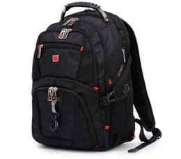 "Sacolas de laptop suíças on-line-SIXRAYS suíço multifuncional 15.6"" caso saco de manga Mochila Laptop Waterproof USB taxas portuárias Schoolbag Hockey Viagens saco CJ191201"
