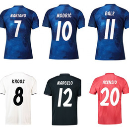 a9c5fa5a0 Kids Real Madrid 2018 2019 Soccer jersey MODRIC MARIANO ASENSIO VINICIUS JR  BALE RAMOS baby clothes Infant adult Real Madrid Football Shirt