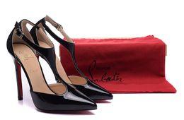 2019 haarfarbe styles burgund schwarz Christian Louboutin Luxus CL 2020 Frauen rote untere Pumpen-Absatz-Blick-Zehe-Stilett-Kleid-Schuh-Plattform-Glanzleder-Mattfarben C564