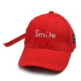 b8c3c7d442e Smile letter embroidery Children Baseball Cap Boys Girls Kids Snapback  Summer tourism sunshade Sun hat Hip Hop Caps