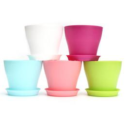 2019 grandi vasi da giardino Grande resina interna da giardino all'aperto pianta vaso di fiori Balcone plastica fioriera Patio Home Decor vaso di fiori sconti grandi vasi da giardino