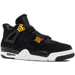 new product c6d3c b6eb7 Nike Air Jordan 4 Retro 4S Chaussures de basket-ball Hommes Raptor Tattoo  Black Cat Toro Bravo Feu Rouge Blanc Ciment Pure Money Oreo Designer Sport  ...