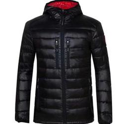 2019 jaqueta zip completo Jaqueta de inverno Homens Roupas 2018 Nova Marca Com Capuz Casaco de Algodão Parka canada Homens Manter Quente ganso Casacos Moda Casacos 7696