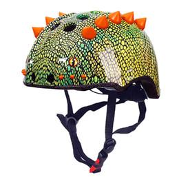 Ragazzo scooter online-Casco da ciclismo regolabile per bambini Protezione capa per bambini Simpatico animale 50-57cm Ragazzi e ragazze che guidano Scooter protettivo di sicurezza
