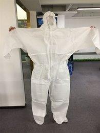 2019 ropa de soldadura de una sola pieza traje blanco de DHL de la bata desechable Ropa de protección contra polvo gotita de traje de aislamiento no médico ropa de trabajo Hombres Mujeres