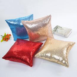 cojines de superman Rebajas Funda de almohada de lentejuelas brillantes de 10 colores Funda de cojín de color sólido de 15.7 * 15.7 pulgadas Funda de cojín para el hogar Decoración de cojín de cintura Funda de almohada BH2219 TQQ