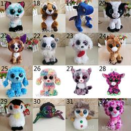 2020 кошачий глаз куклы 38 Стиль Ty Боос Плюшевые чучела игрушек 15см дети Большие глаза аниме Unicorn Домашние животные собаки кошки Обезьяна Куклы для рождения рождественские подарки игрушка B1 дешево кошачий глаз куклы