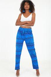 Pantaloni casual da donna casual Trendhub da donna con stampa floreale con coulisse lounge gamba larga Boho Baggy Harem Hippie Yoga Beach Pantaloni 18Y0540026 da