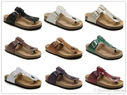 famous high heels brands Coupons - Famous Brand Medina Men Women Birk Flat Heel Sandals With Buckle Wholesale Summer Beach Casual Shoes High Quality Genuine Leather Slippers